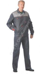"""62253788b329 Костюм """"ФАВОРИТ"""" летний: куртка, брюки тёмно-серый ..."""