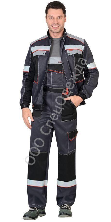 1055373e9568 Костюм Полином:куртка кор.,п/комб.темно-серый с серым